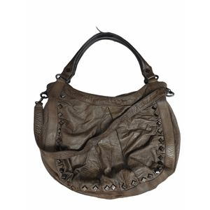 Treesje Soft Leather Studded Edgy Slouchy Bag